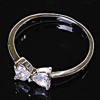 [17,18,19] Кольцо Помолвочное бабочка с камнем