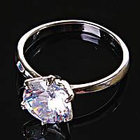 [17,18,19] Кольцо Помолвочное корона крупная с камнем