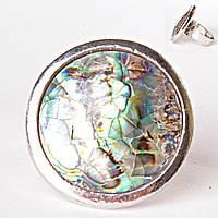 Кольцо без р-р  круг мозаика халиотис Перламутр