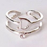 Кольцо без р-р  хомут Dior сильвер