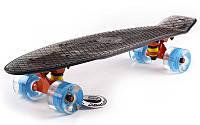 Пенниборд  LED WHEELS TRANSPARENT FISH (светящиеся колеса)