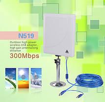 Mощный сетевой беспроводной Wi-Fi адаптер Melon N519 (36dbi антенна) 5м кабель, фото 2