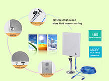 Mощный сетевой беспроводной Wi-Fi адаптер Melon N519 (36dbi антенна) 5м кабель, фото 3