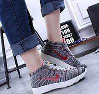 Кроссовки женские Nike реплика flyknit chukka, фото 1