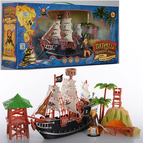 Набор пиратов M 0513 U/R  26см, вышки 2шт, фигурка, в кор-ке, 48-23-12см