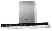 Вытяжка кухонная Pyramida НЕF 22 H-900 black (900 мм) нержавеющая сталь / черное стекло