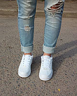 Кроссовки женские низкие Nike air force белые, фото 1