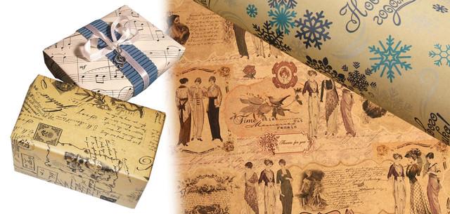 Печать упаковочной бумаги, упаковка из крафт бумаги, крафт бумага с логотипом для упаковки
