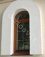 Арочные деревянные окна с энергосберегающим  стекло пакетом