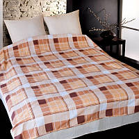 """Красивый и модный комплект постельного белья """"Шотландка коричневая"""" Premium бязь."""