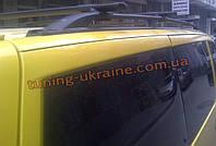 Рейлинги  (черные - Black) алюминиевые концевики ALM на Renault  Kangoo 1998-2008