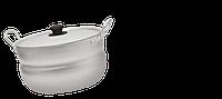 Кастрюля алюминиевая штампованная с крышкой 1,7л сферическая