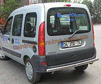 Защита заднего бампера труба прямая D60 на Renault  Kangoo 2008