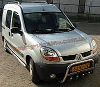 Защита переднего бампера кенгурятник низкий с надписью D60 на  Renault  Kangoo 2008