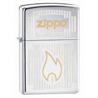 Бензиновая зажигалка Zippo 24206 CHROME VISIONS (Эмблема Zippo, хромированная)