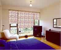 Мини рулонные шторы с тканью лето (summer)