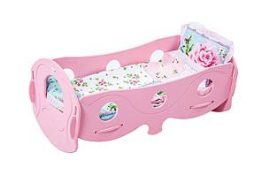 Кроватка для кукол деревянная Украина (розовая) арт. 040