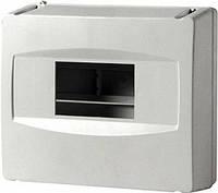 Корпус пластиковый, навесной, 4-модульный, 1 ряд, без дверки, IP40