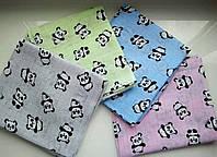 Муслиновая марлевая пеленка 4 цвета (панда пандочка), поштучно, 70х80 (ассортимент)