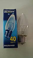 Лампа накаливания Искра свеча 40Вт, E27, прозрачная