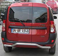 Защита заднего бампера труба изогнутая D60 на Renault Logan 2004-2012