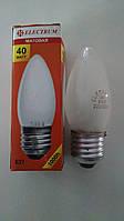 Лампа накаливания Electrum свеча 40Вт, E27, матовая