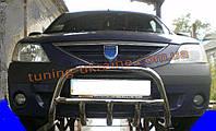Защита переднего бампера кенгурятник низкий D60 на Renault Logan 2004-2012