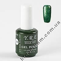Гель-лак YRE GL-01 №109 грязно-зелёный с блеском
