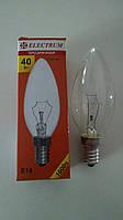 Лампа накаливания Electrum свеча 40Вт, E14, прозрачная