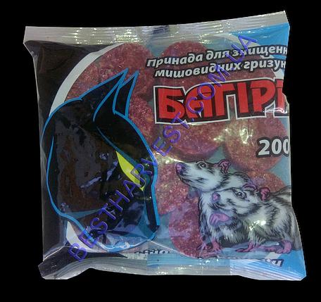 Багира брикеты от крыс и мышей 200 г оригинал, фото 2