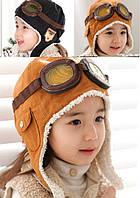 Теплая шапка летчика. Для самых стильных. Черный, фото 1