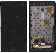 Дисплей + сенсор Sony LT26W Xperia acro S с рамкой чёрный