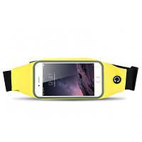 Чехол iPhone 6 жёлтый на пояс в упаковке