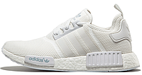 Мужские кроссовки Adidas Originals NMD Runner All White (Адидас НМД) белые