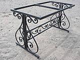 Каркас стола садового кованого ( 120x60 см), фото 5