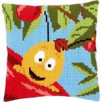 """Набор для вышивки крестом """"Подушка """"Вилли и красное яблоко"""""""