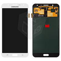 Дисплейный модуль (дисплей + сенсор) для Samsung Galaxy J7 J700F / J700H / J700M, белый, оригинал
