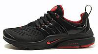 Мужские кроссовки Nike Air Presto Найк Аир Престо черные с красным