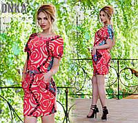 Платье женское с карманами Розы № ат 565  гл