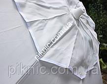 Белый пляжный зонт 1,8 м клапан и наклон. Плотная ткань. Тканевый чехол. Зонтик для пляжа от солнца, фото 3