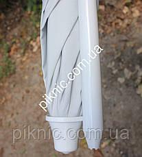 Зонт пляжный Белый 2 м клапан и наклон плотная ткань тканевый чехол Зонтик для пляжа от солнца 352, фото 2