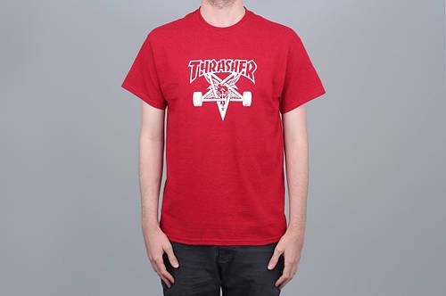 Футболка Thrasher Skategoat Tee Antique Red