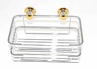 Полка металлическая решетка 21 Andex Classic, хром-золото