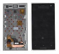 Дисплей + сенсор Sony LT26W Xperia acro S с рамкой белый