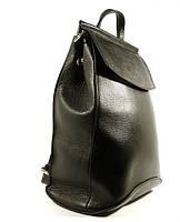 Кожаный рюкзак городской, сумка Valensiy 83003 черный, 32*22*16 см