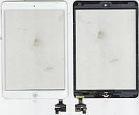 Тачскрин (сенсор) iPad Mini белый (White) assembly with home button