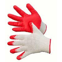 Перчатки трикотажные с нанесением ПВХ (резин. ладонь) р.8  (6116108000)