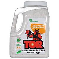 Реагент антигололедный быстрого действия TOR, гранул, 4кг ( площадь до 70 кв.м)