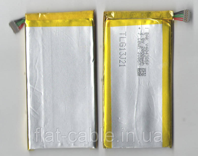 №01.7 Батарея (аккумулятор) Li-Pol 3.7 2000мА·ч (4,0 *43*85mm)