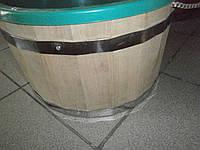 Ведро-запарник для веника дубовое с пластиком